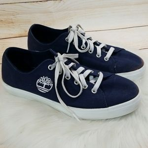 Timberland low top canvas lace up shoes sz 9